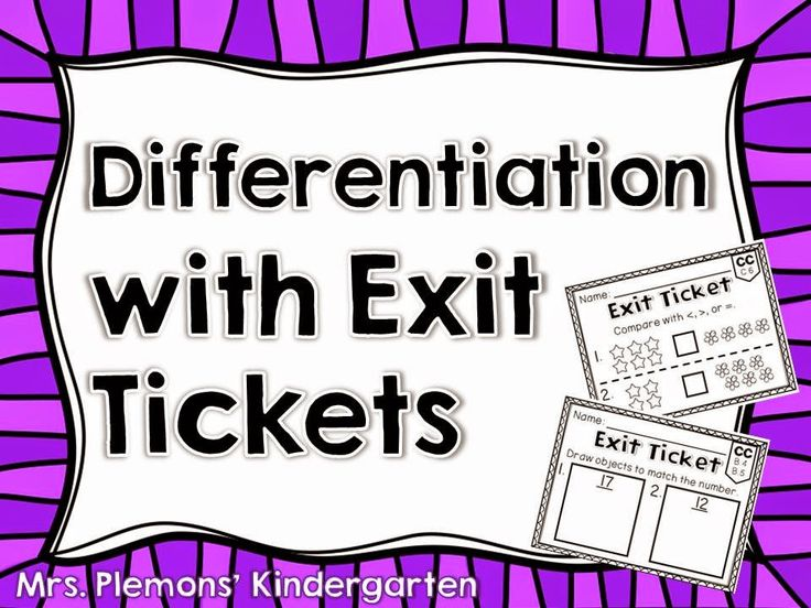 Great ideas for using exit tickets in the primary classroom to differentiate and meet student needs