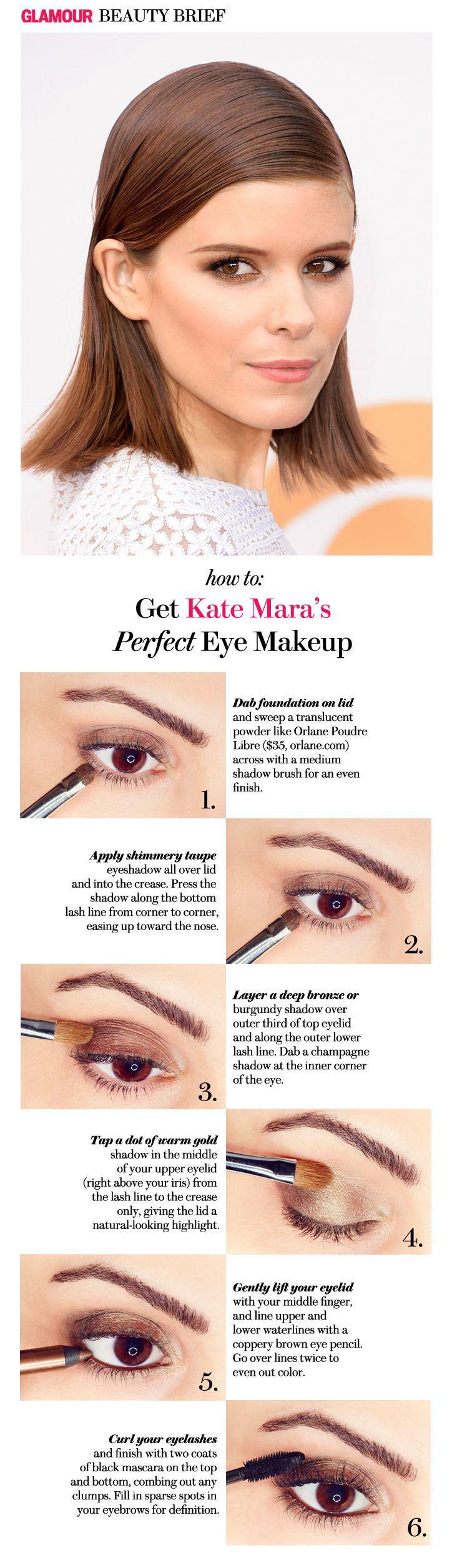 How to Copy Kate Mara's Perfect Smoky Bronze Eye Makeup