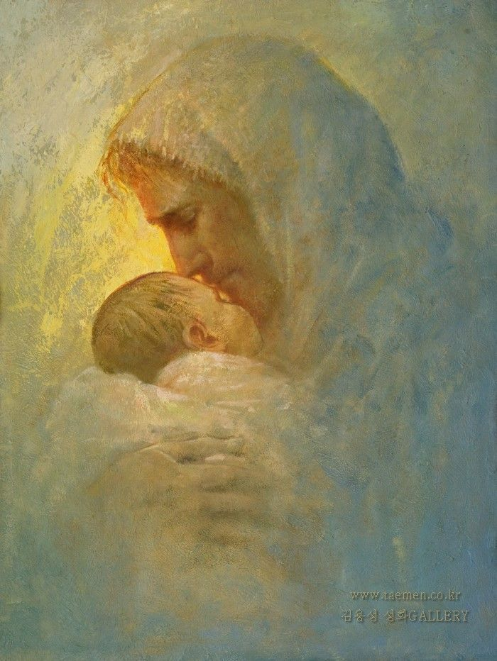 I imagine this painting to depict Jesus with newborn ...