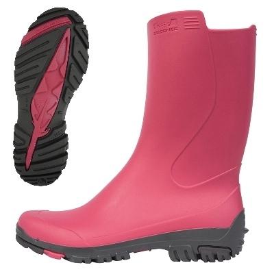 Stivali da pioggia: Inverness 50 rosa donna (Decathlon). € 12