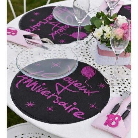 700 best images about anniversaire chic design on pinterest for Set de table paillete