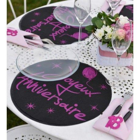 700 best images about anniversaire chic design on pinterest for Set de table paillete