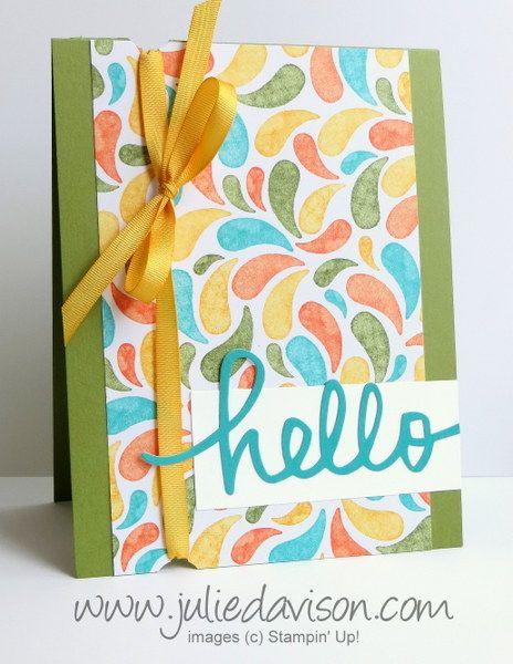 FMS182 All Shook Up + Birthday Bash Hello Card #stampinup www.juliedavison.com