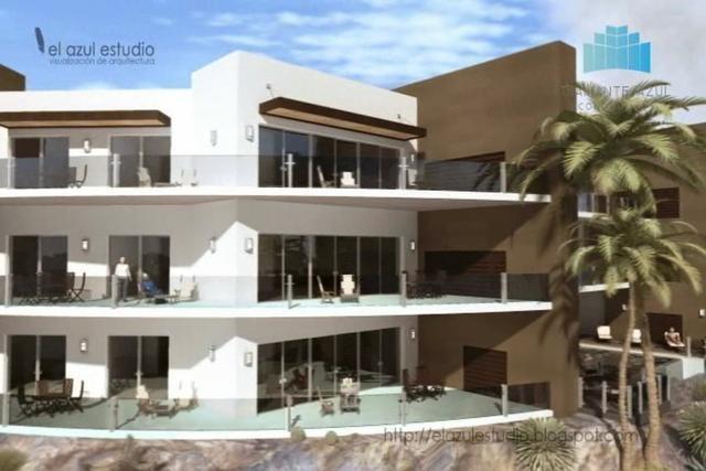 Animacion Condominios Diamante Azul, situado en San Carlos, Sonora, Mexico.