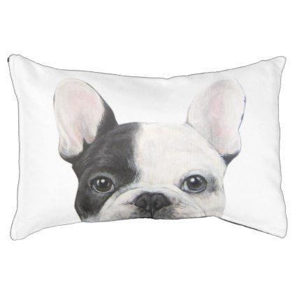 #Black and white French Bulldog dog bed - #bulldog #puppy #bulldogs #dog #dogs #pet #pets