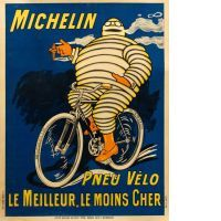 O'GALOP, Marius ROSSILLON dit (1867 - 1946) (attribué à)  MICHELIN PNEU VÉLO - LE MEILLEUR, LE MOINS CHER - 1911