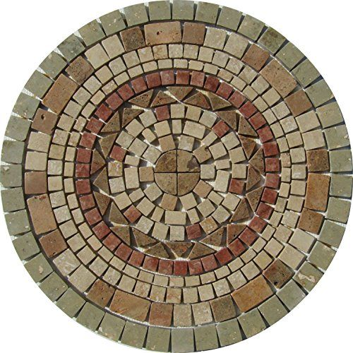 Tumbled Travertine Floor or Wall Art Medallion Mosaic By: Stone Deals Stone Deals http://www.amazon.com/dp/B0151UZPMQ/ref=cm_sw_r_pi_dp_qKC7vb107XNHK