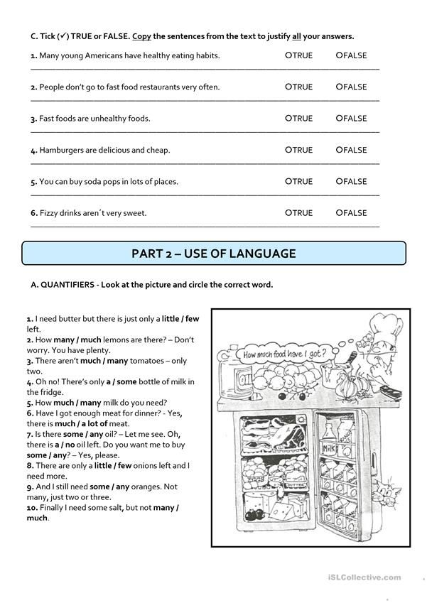 Pin On Reading 7th grade health worksheets