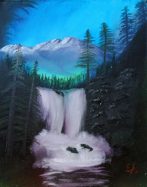 Bob Ross Peaceful Waterfall Related Keywords & Suggestions