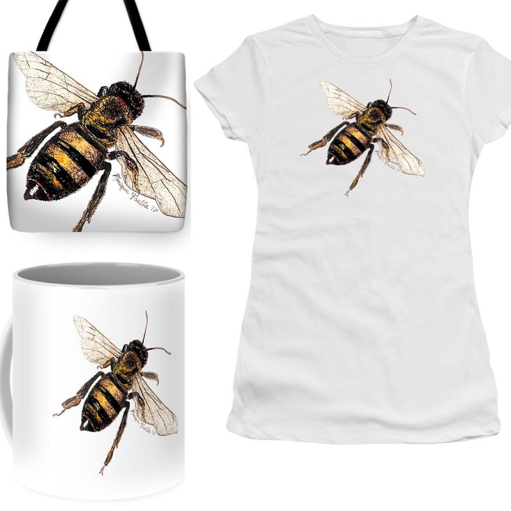 My Grandfather was a beekeeper, so this painting is in his honor. Bees are little reminders that we all can achieve the impossible. Bees are not physically supposed to be able to fly because of their body weight, but they somehow do it anyways! Amazing!  #bee #bees #garden #gardener #gardening #spring #mothersday #tote #totebag #tshirt #coffeemug