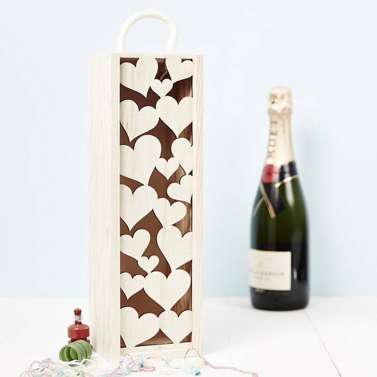 lasercut love heart bottle box by sophia victoria joy | notonthehighstreet.com