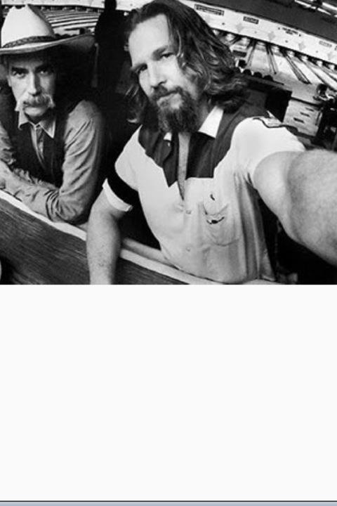 Sam Elliot and Jeff Bridges from the set of 'The Big Lebowski' - photo by Jeff Bridges http://www.amazon.com/Got-Any-Kahlua-Collected-Recipes/dp/1478252650
