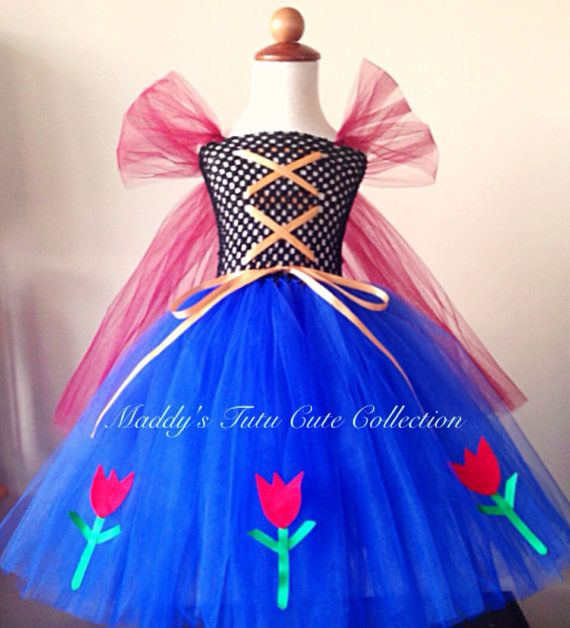 Princess Anna Frozen Inspired Tutu Dress by MTCCollection on Etsy