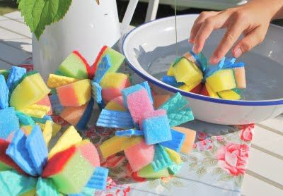 sponge bombs - from Doris @ mamas kram (made some today with my kids and tried them out....fun!)