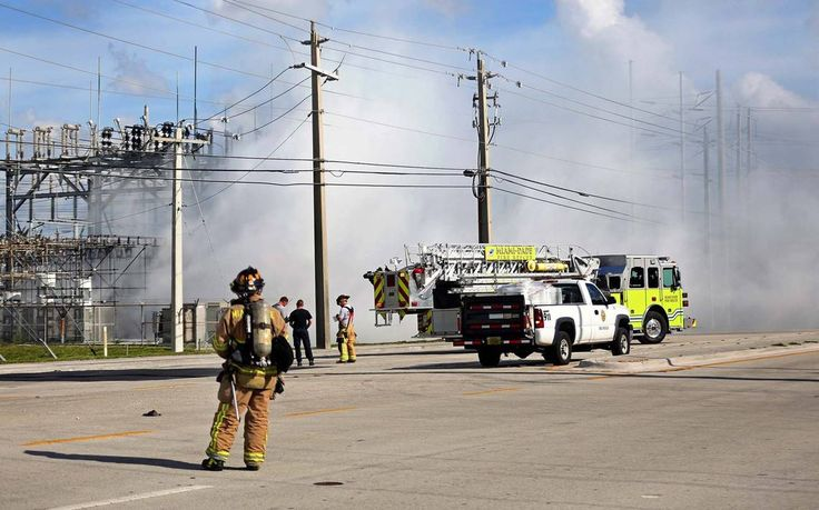 08/23/2016 - FPL substation fire snarls traffic, kills power for nearly 11,000