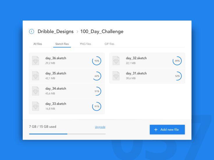 Day 37 - File Storage Widget