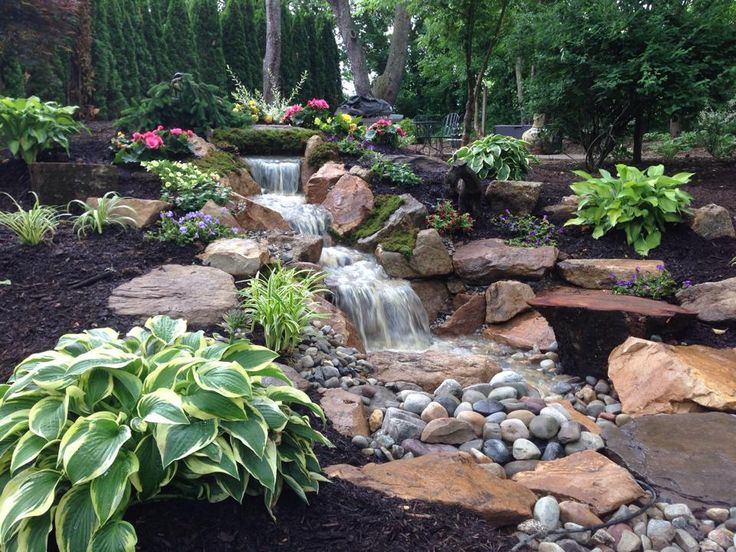 Waterfall created by International Water Features in Easton, PA. #WaterfallWednesday