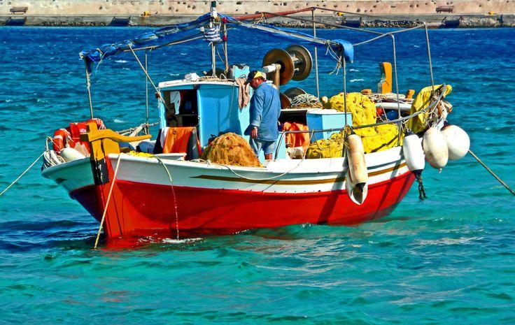 Mykonos Fisherman by Mark Luftig