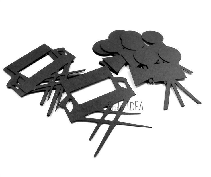 """Black Shooting Camera & Director Chair Cutouts, 2"""" Black Movie Confetti-or Choose Your Colors- Set of 30pcs, 60pcs, 120pcs by StudioIdea on Etsy"""