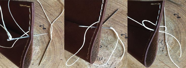 How to hand stitch leather goods, tip on how to hand sew small leather goods - PrimObject LeatherCraft