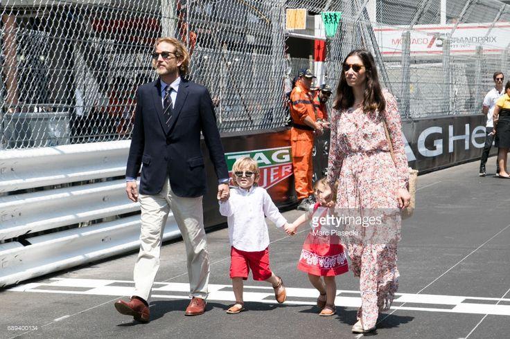 Andrea Casiraghi, Alexandre Casiraghi, India Casiraghi and Tatiana Santo Domingo attend the Monaco Formula 1 Grand Prix at the Monaco street circuit, on May 28, 2017 in Monaco.