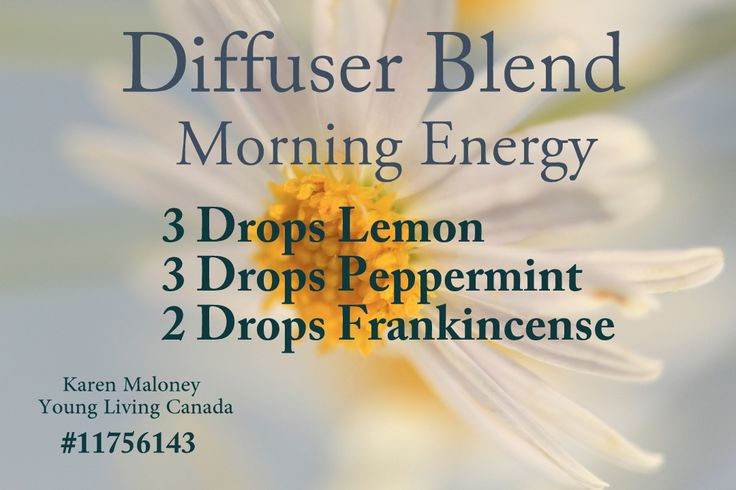 Diffuser Blend-Morning Energy using Young Living Canada oils from starter kit