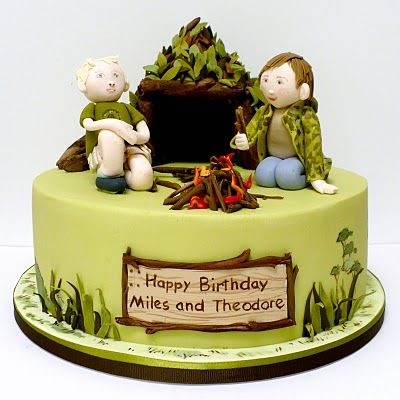 CUTE cake for a boy whose into camping!Camps Cake, Camping Theme, Theme Birthday, Cake Ideas, Birthday Cake Recipe, Camps Parties, Boys Cake, Cake Art, Birthday Cakes
