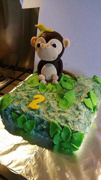 Jungle 2nd Birthday Cake