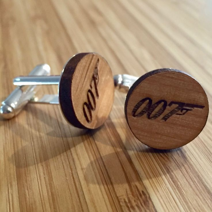 Personalised mens wood cufflink set with gift box