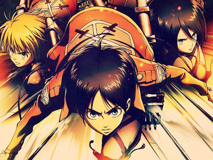 Eren, Mikasa, and Armin! ❤️