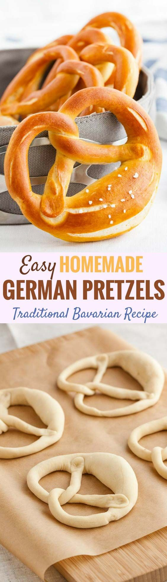 These Bavarian pretzels are a very popular snack in Germany and perfect for your next Oktoberfest party! They taste delicious dipped in cheese sauce and are easy to make at home with simple ingredients. #germanpretzels #germanrecipes #softpretzels #pretzels #oktoberfestrecipes