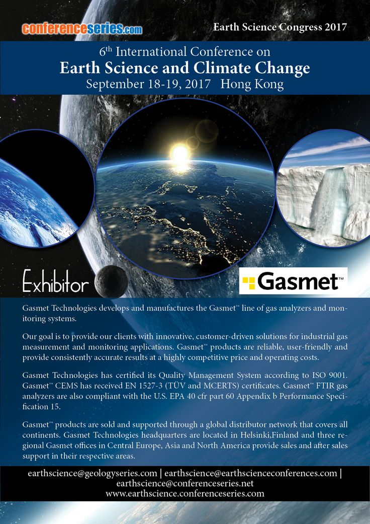 6th International Conference on #Earth_Science and #Climate_Change September 18-19, 2017 Hong Kong.