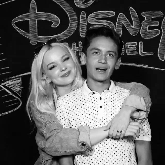 dovecameron: after sobbing thru my own video about my first memory on set, tenzing said i could cuddle him while he did his so i would be less sad. one of the best people i know//my brother for life. @tenzingt4