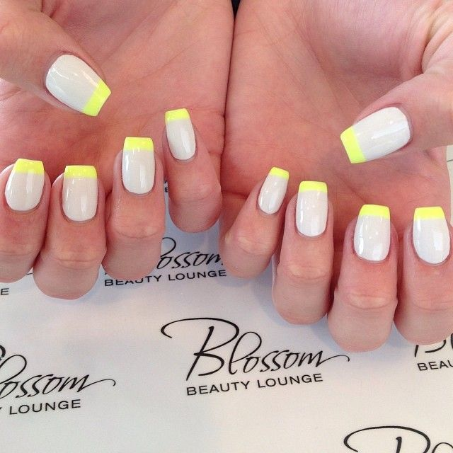 Neon French Tip Nail Designs: 17 Best Ideas About Neon French Manicure On Pinterest