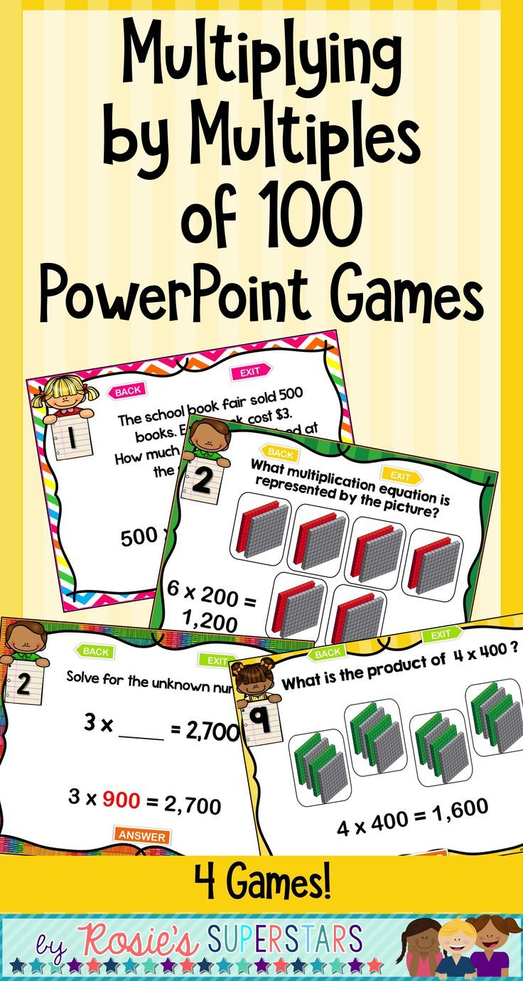 The 25 best powerpoint games ideas on pinterest class games use these four ready to play engaging powerpoint games for students to practice their multiplication of multiples of 100 skills use the games for a center alramifo Choice Image