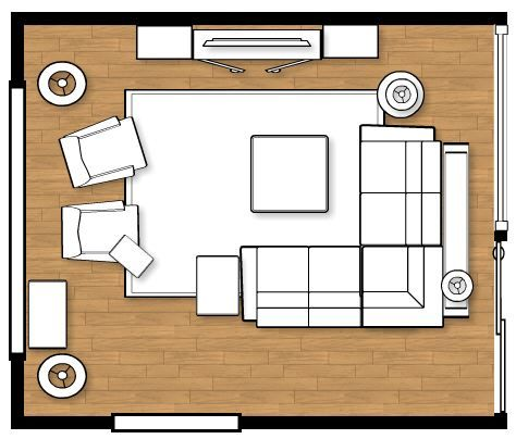 Planning a living room furniture layout tips to remember for Small living room floor plan