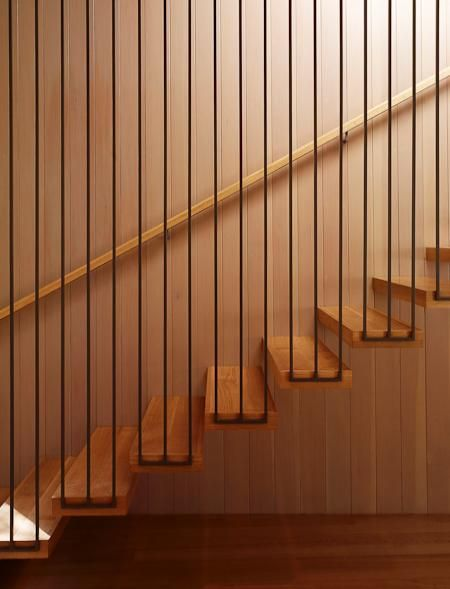 A STEP UP: Innovative modern stair rail in featured home: ModernDallas.net