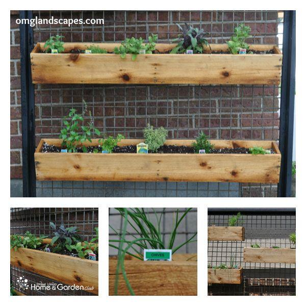 Vertical Kitchen Herb Garden