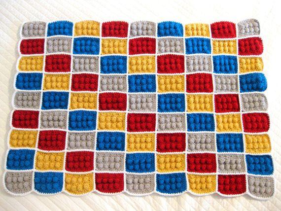 Crochet Lego Blanket Pattern by AndreaLBaker on Etsy