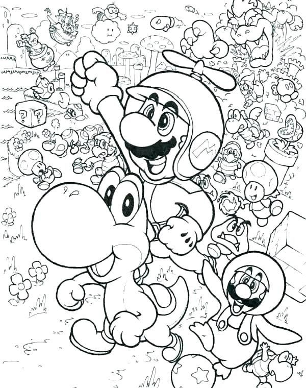 Top 10 Super Mario 3d World Coloring Pages