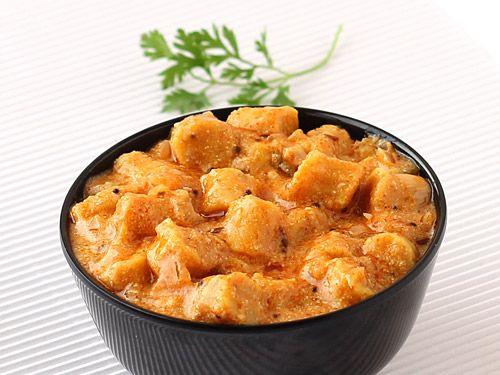 Gatte ki Sabzi - Popular Rajasthani Curry with Gram Flour Dumplings and Yogurt Based Gravy