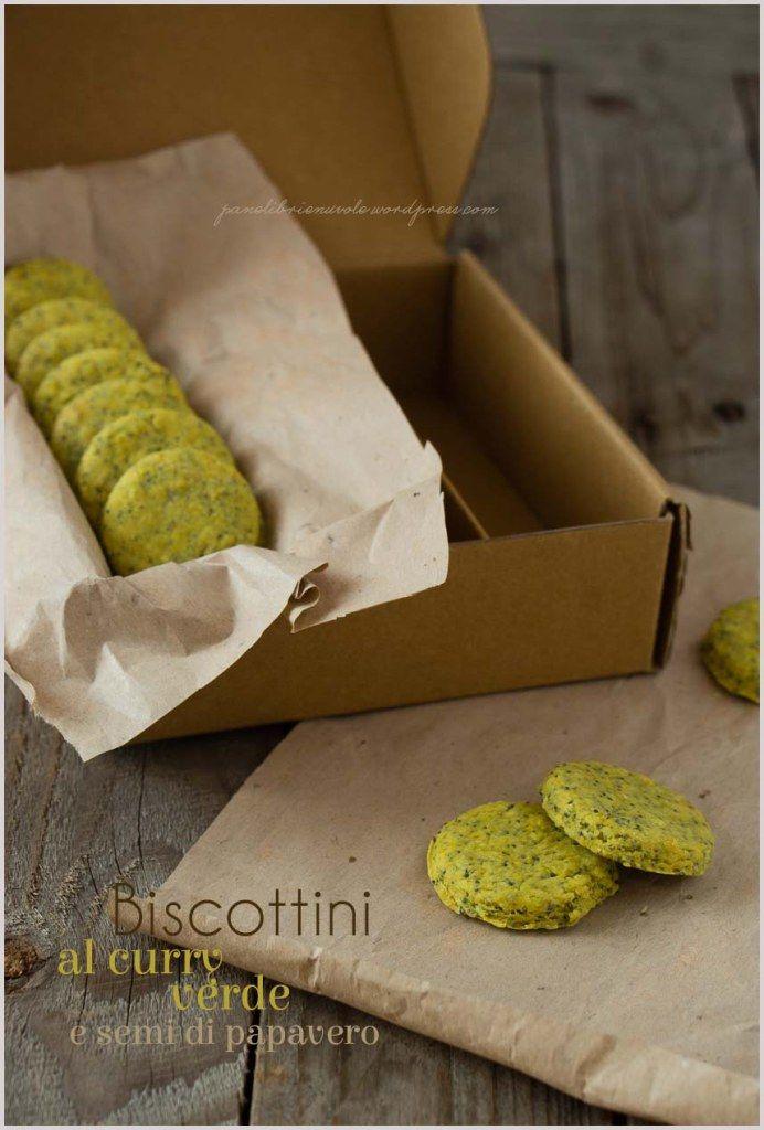 Biscotti al curry verde e semi di papavero - Curry and poppy seed biscuit