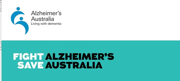 Alzheimer's Australia Logo, Before and After. Listened to Mike Rigby last night speak about the creation of this powerful rebrand.