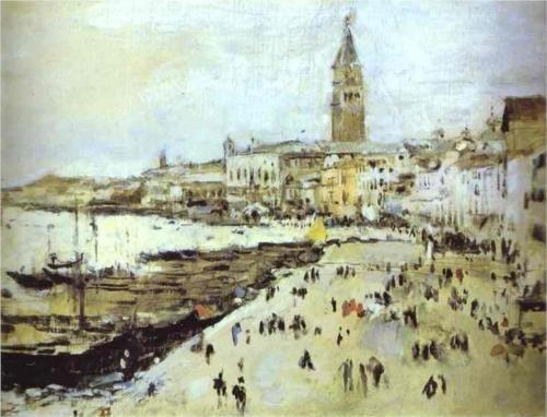 Seaside in Venice - Valentin Serov