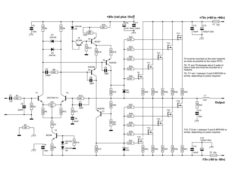 600 Watt Mosfet Power Amplifier with PCB - Electronic Circuit | Power  amplifiers, Circuit diagram, Circuit designPinterest