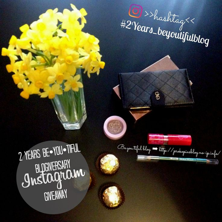 ↞ 2 Years Be•YOU•tiful Blogiversary – Instagram GiveawaY ↠