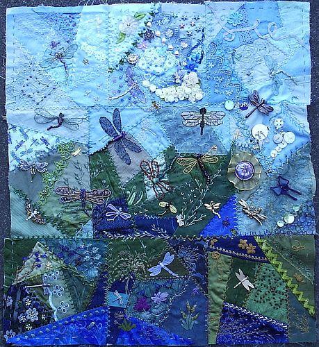 Dragonfly Blocks 3   Flickr - Photo Sharing!  love the blue