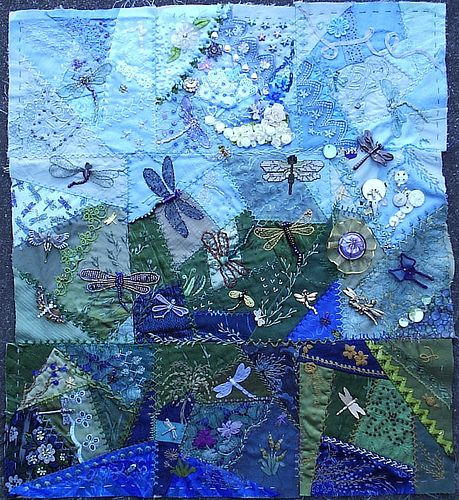 Dragonfly Blocks 3 | Flickr - Photo Sharing!  love the blue