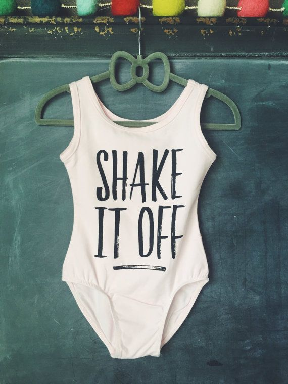 TODDLER LEOTARD Shake it Off Tank Top Pink Girls by HENANDCO