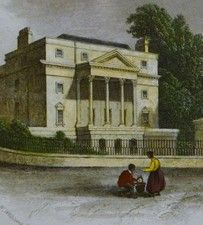 Antique engraving, Holburne Museum & Sydney Place, Bath, Somerset